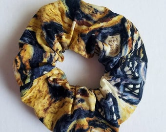 Exploding Tardis Hair Scrunchie - Space Hair Tie - Whovian Hair Tie - Dr. Who Accessory - Nerdy Scrunchie - Van Gogh Style