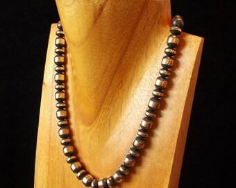 "Copper Amazing Necklace,Antique Copper Beads,Dark Copper Beads,Rustic Necklaces,16""inch 10mm copper beads"