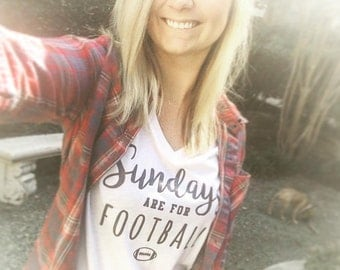 Sundays Are For Football Vneck