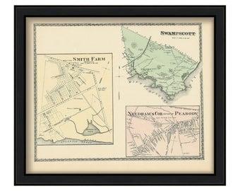 Town of Swampscott 1872 Map