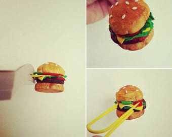 Bookmarks - Paper Clips, Polymer clay, Miniature food