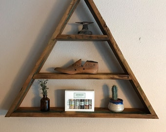Rustic Modern Triangle Shelves - Available  now