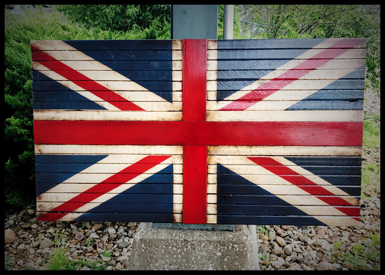 wooden british flag rustic british flag union jack flag great