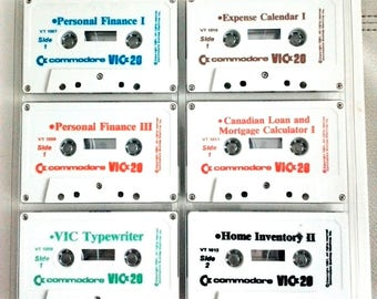 Commodore Vic-20 VT-107-FM Cassette 6 Pack Finance, Mortage Calculator, Home Inventory with instruction Very rare and hard to find