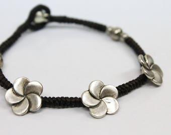 handmade bracelet anklet 28 mhong tribal vintage goldish coin