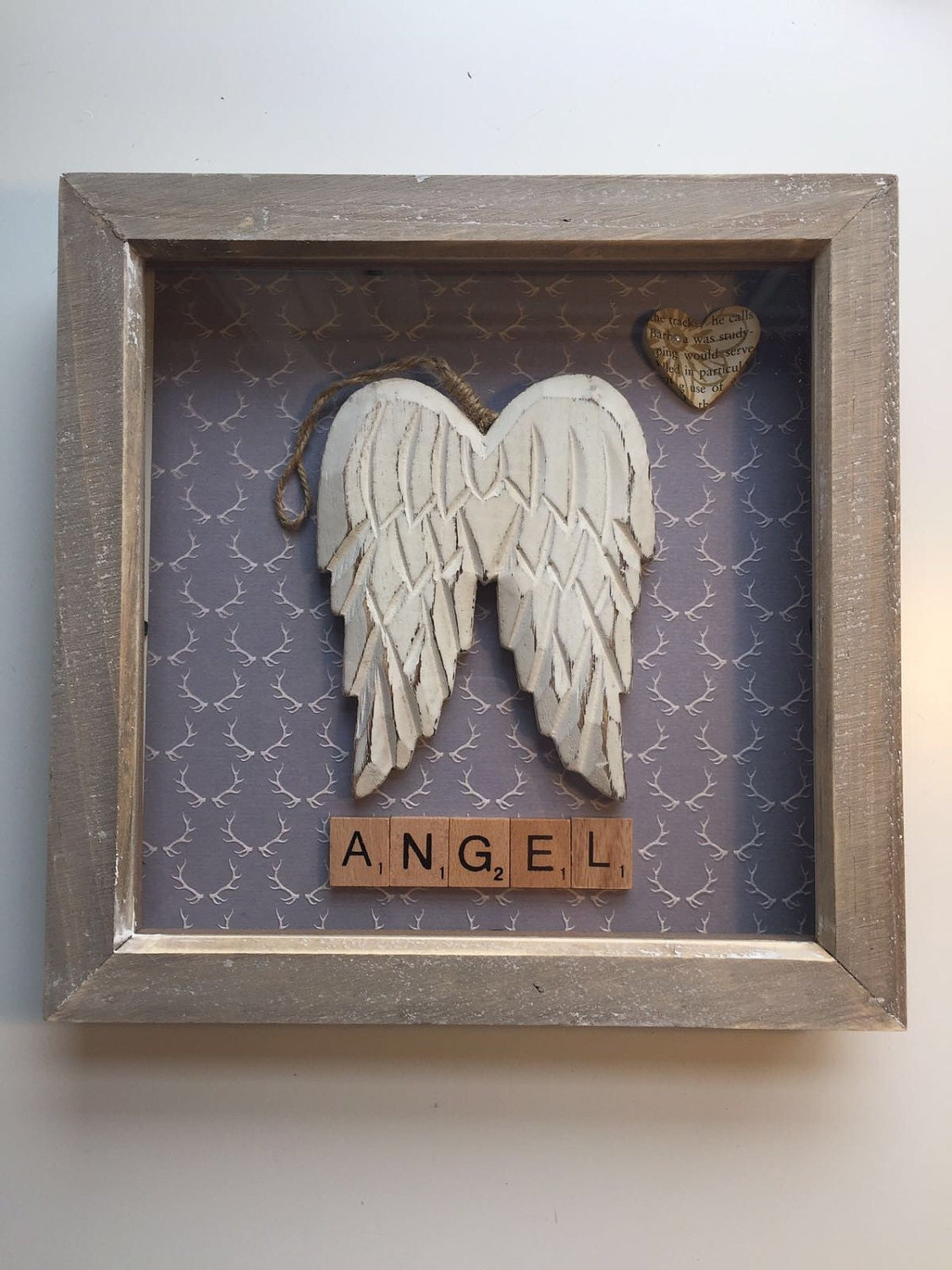 Angel wings picture frame from scrabbledabble99 on etsy studio angel wings picture frame jeuxipadfo Image collections