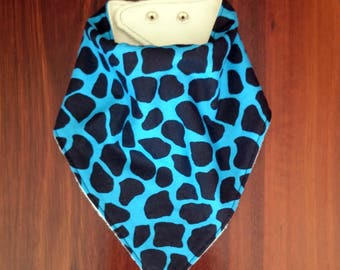 Bandana Bib, Dribble Bib, Teething Bib, Drool Bib, Birth to Toddler, Bamboo lined.