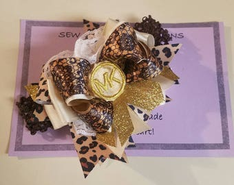 MK Hairbow, Hairbow, Leopard Print Hairbow
