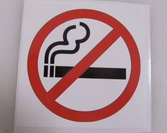 NO SMOKING Symbol Decal Sticker osha Dot Safety Construction Equipment Restaurant Food Service Truck Firework Bar
