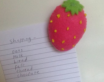 Magnet- strawberry-one supplied