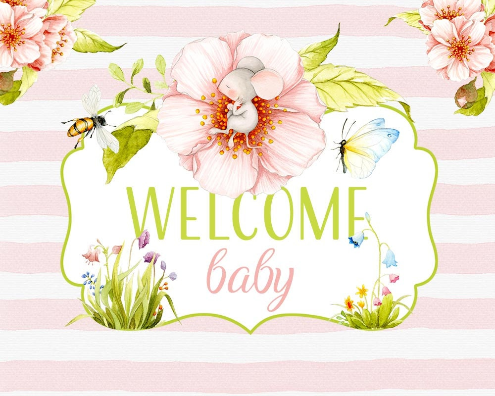 Welcome Baby clipart Spring clipart Baby clipart Baby