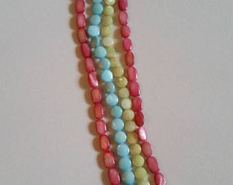 4 16inch mother of pearl strands