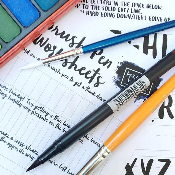 Kids brush lettering calligraphy kit beginners starter