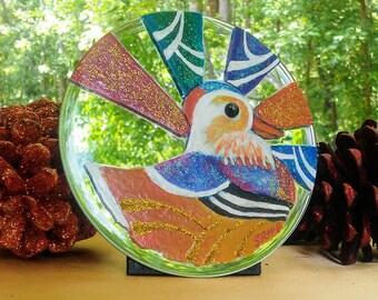 Mandarin Duck Mirror Painting