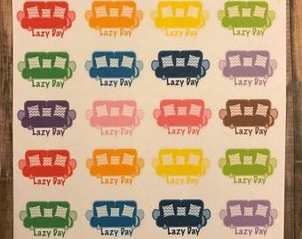 Lazy day stickers