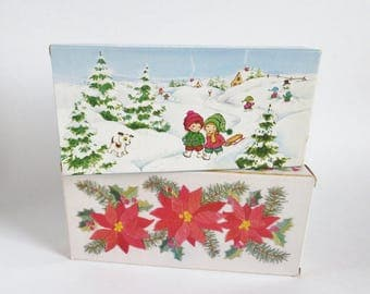 Avon Soap, Vintage Avon Christmas Soaps, Set of Two Perfumed Boxed Soaps, Christmas Decal Soap, Holiday Avon Soap, Guest Soaps, Hostess Gift