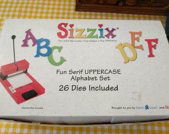 Sizzix fun sherif uppercase alphabet set