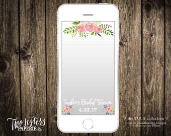 Floral Bridal Shower Snapchat Filter - TULA Collection - Floral Snapchat Filter - Bridal Shower Snapchat Geofilter