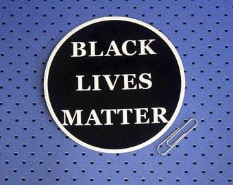 Black Lives Matter Circle Bumper Sticker