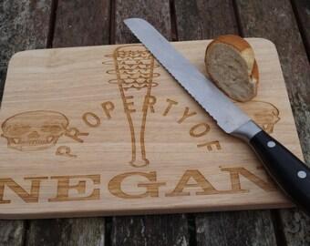 Chopping board,The Walking Dead Negan, TWD, negan, twd fan, twd, the walking dead, personalised chopping board, serving board
