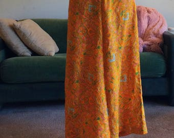 70s Maxi Skirt/Size 2