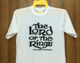 70s Rare Vintage 1978 Lord Of The Ring Tshirt Tolken Enterprise - Deadstock Unworn Unwashed - Small Size