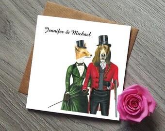 Unique Wedding Invitation - Fox and the Hound - Wedding Invites - Wedding Invitation - Wedding Invitation Rustic - Wedding Invitations UK