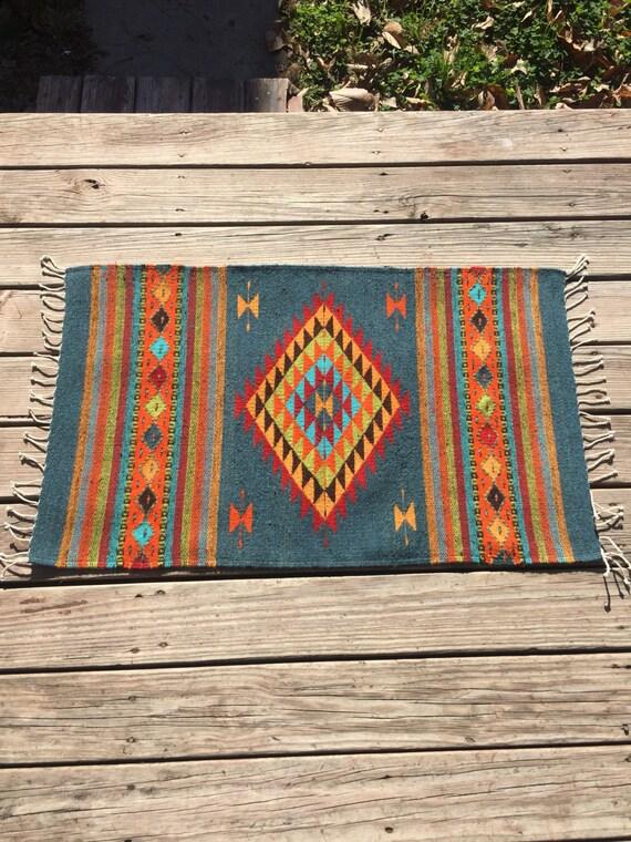 Zapotec Wool Floor Rug 42 X 22 Uniquely