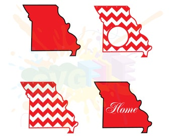 Missouri SVG Files for Cutting America State Cricut Designs - SVG Files for Silhouette - Instant Download