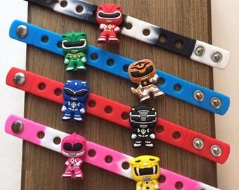 Power Rangers PARTY FAVORS Charm Bracelets