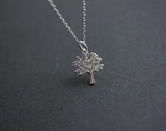 Sterling Silver Tree of Life Necklace - Tree of Life necklace - Life Necklace - Silver Tree Necklace - Christmas Gift