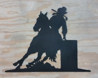 Barrel Racer Silhouette  **Free Shipping**