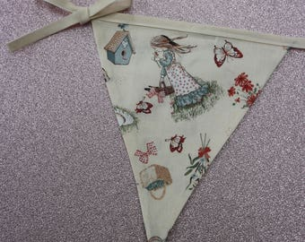 Holly Hobbie Vintage Bunting - Holly Hobbie and friends from 1960's & 1970's, Cream Bunting, Nursery Bunting, Baby Bunting