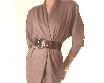 Simplicity vintage 1980s sewing pattern - Cathy Hardwick mock wrap dress - Size 12