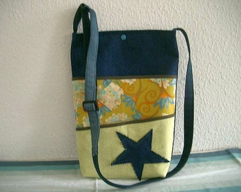Jeans bag with a star