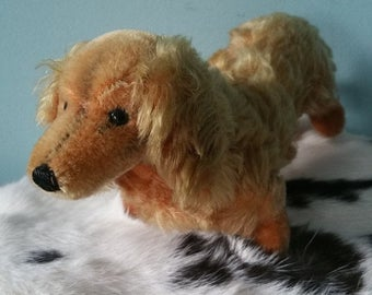 STEIFF Dachshund! Cute stuffed animal toy dog 1968-1971