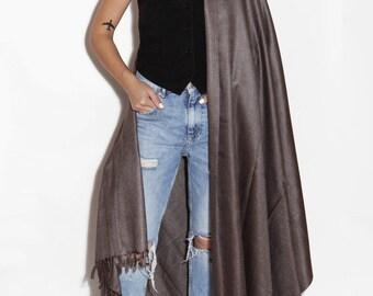Brown shawl, big brown scarf, wool shawl, stylish scarf, shawls and wraps, beautiful scarf, blanket scarves, wide wrap, long scarf