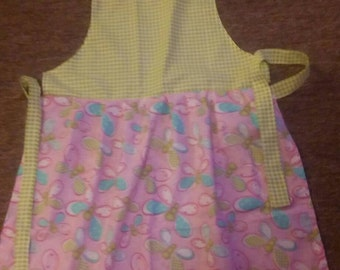 Little girls apron with chefs hat. One size fits most