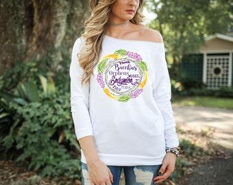 Mardi Gras Tailfeathers Women's Tshirt