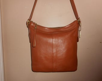 "VINTAGE COACH Bag 12"" x 11"" Brown Leather Shoulder /Handbag Bag #K3S-9325 USA"