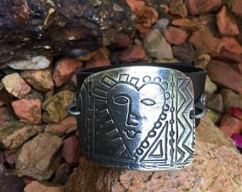 Sun Goddess- .999 Fine Silver Bracelet and Pendant Set