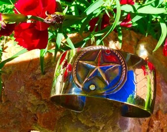 Texas Star Sterling Silver Cuff Bracelet