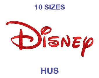 Disney Embroidery Font - 10 Size - HUS Format Embroidery Alphabet - Embroidery Letters - Machine Embroidery Designs Patterns