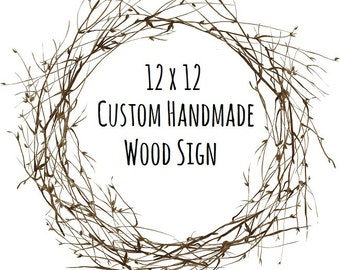Custom Wooden Signs - Personalized Wood Sign - Custom Signs for Home - Rustic Wood Signs - Custom Signs - Handpainted Wooden Signs
