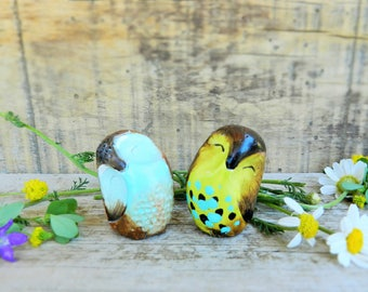 owl polymer clay collectible owl figurine