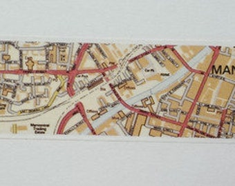 Washi tape map Manchester England