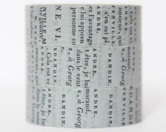 Washi tape grey newspaper text font