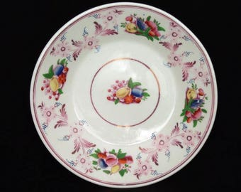 Pink Lustreware Bowl.  English, 19th Century