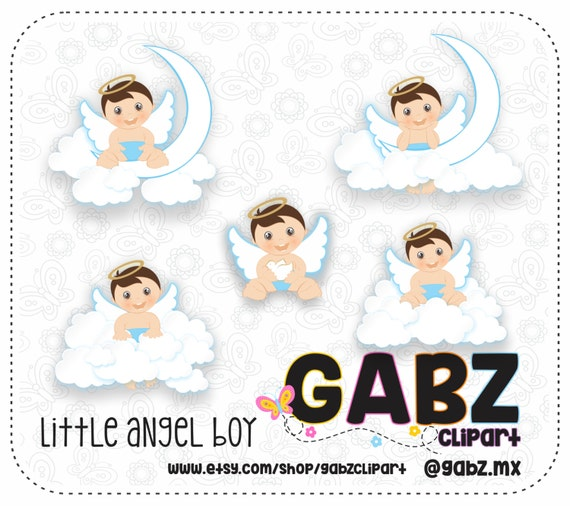 Little Angel Boy Clipart Baptism Christening Baby Boy