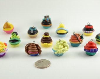 Princess Inspired Cupcake charms.Anna,Ariel,Aurora,Belle,Cinderella,Elsa,Jasmine,Merida,Mulan,Pocahontas,Rapunzel,SnowWhite,Tiana-Set of 13